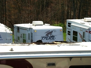2000 FEATHERLITE VOGUE USED PARTS FOR SALE 45FT 1-SLIDE PARTING OUT