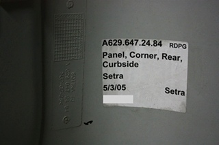 Setra Bus Curbside Rear Corner Panel For Sale
